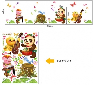 Sticker decorativ copii - Muzicienii veseli5