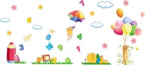 Sticker decorativ copii - Sa ne jucam cu numerele