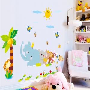 Sticker decorativ copii - Trenuletul animalelor