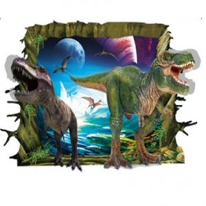 Sticker decorativ de perete 3D - Dinozauri