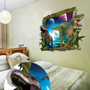 Sticker decorativ de perete 3D - Dinozauri3
