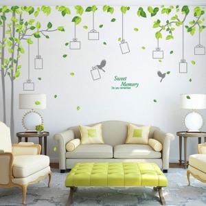 Sticker decorativ - Padure verde cu rame foto0