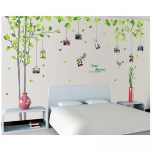 Sticker decorativ - Padure verde cu rame foto2