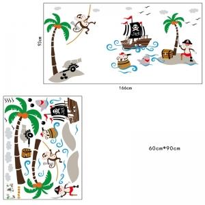 Sticker decorativ pentru baieti - Piratii naufragiati6