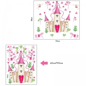 Sticker decorativ pentru fete- Castelul din poveste