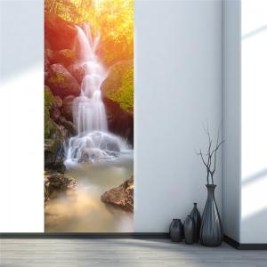 Sticker decorativ pentru usi - Cascada - 2 folii de 38,5x200 cm