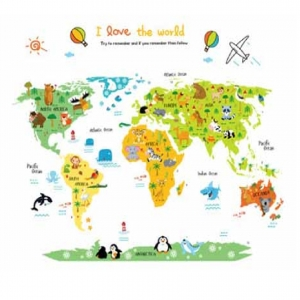 Sticker educativ - Harta animata a lumii pentru copii4