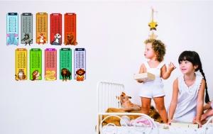 Sticker educativ - Numere, tabla inmultirii si animale3