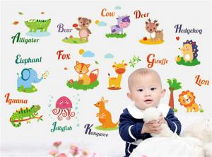 Sticker fosforescent - Animale in limba engleza5