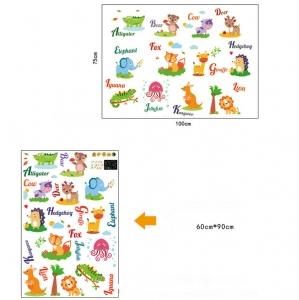 Sticker fosforescent - Animale in limba engleza6