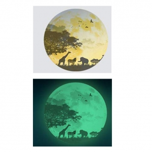 Sticker fosforescent - Luna - Safari - 30x30 cm
