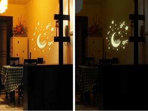 Sticker fosforescent - Luna si stele4