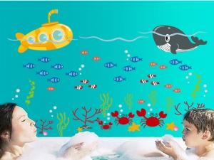 Sticker pentru camere bebelusi - Submarinul galben3