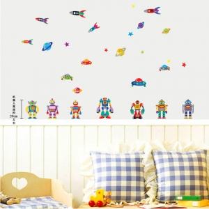 Sticker pentru copii - Robotei spatiali