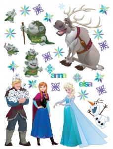 Sticker Personaje Frozen si Trolii - 65x85cm - DK2303