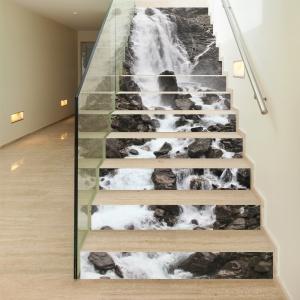 Sticker scari - Cascada pe stanca - 13 trepte de 18x100 cm