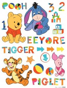 Sticker Winnie the Pooh si Prietenii in copilarie- 65x85cm - DK892