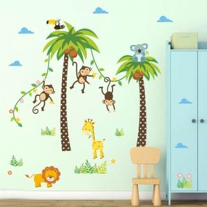 Stickere camere bebelusi - Palmieri si animale3