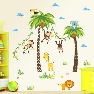 Stickere camere bebelusi - Palmieri si animale0