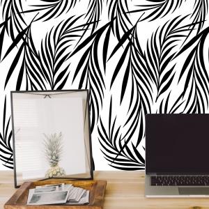Stickere cu model repetitiv - Ramuri cu frunze ( efect de tapet)