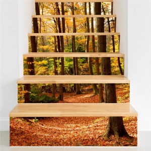 Stickere decorativ scari - Padure tomnatica - 6 folii de 18x100 cm0