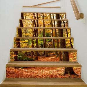 Stickere decorativ scari - Padure tomnatica - 6 folii de 18x100 cm2