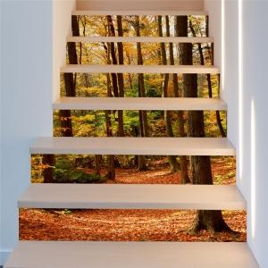 Stickere decorativ scari - Padure tomnatica - 6 folii de 18x100 cm1