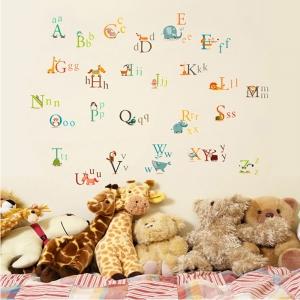 Stickere decorative copii - litere si animale - litere animate 1