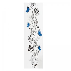 Stickere - Flori si fluturi albastri - 40x120 cm4