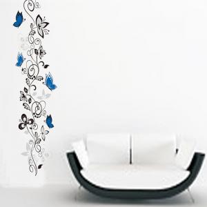 Stickere - Flori si fluturi albastri - 40x120 cm2