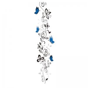 Stickere - Flori si fluturi albastri - 40x120 cm5