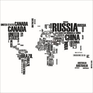 Stickere Harta Lumii - Nume tari