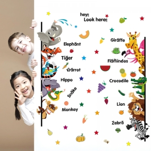 Stickere pentru copii - Animale,legume, fructe ( in engleza)