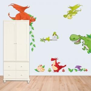 Stickere pentru copii  - Dragoni jucausi