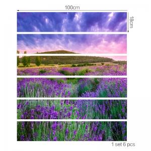 Stickere pentru trepte - Lan de lavanda - 6 folii de 18x100 cm3