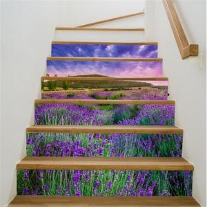 Stickere pentru trepte - Lan de lavanda - 6 folii de 18x100 cm2