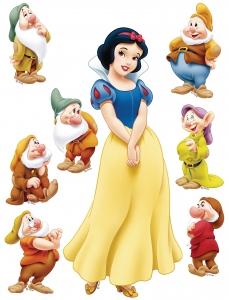 Stickere perete Disney - Alba-ca-Zapada si cei 7 pitici