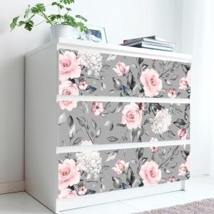 Stickere pentru mobila - Trandafir Roz - 20x80 cm x 3 bucati0