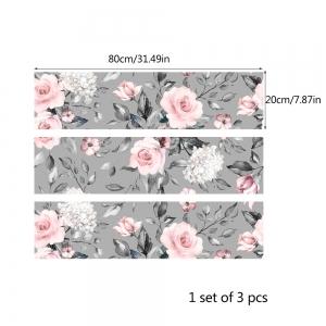 Stickere pentru mobila - Trandafir Roz - 20x80 cm x 3 bucati4