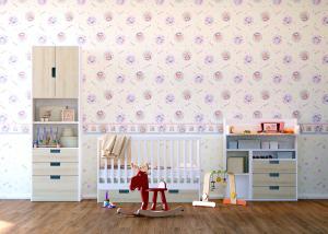 Tapet pentru camera copiilor - netesut crem cu Winnie the Pooh - Walt Disney1