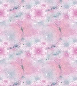 Tapet pentru copii - netesut roz cu flori - Walt Disney