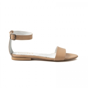 Sandale cu talpa joasa, din bej