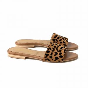 Flip flops din piele naturala cu animal print1