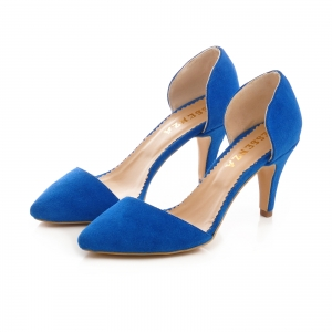 Pntofi stiletto decupati, albastru intens2