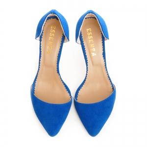 Pntofi stiletto decupati, albastru intens3