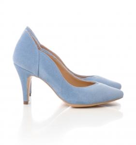 Pantofi stiletto din piele albastra intoarsa1