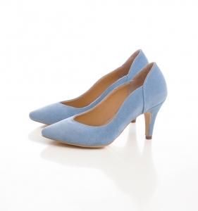 Pantofi stiletto din piele albastra intoarsa3