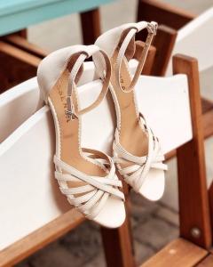 Sandale cu barete, din piele naturala, alb unt0