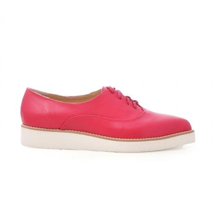 Pantofi oxford, cu varf ascutit, din piele ciclam.0