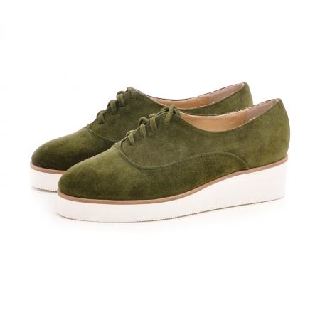Pantofi oxford, din piele intoarsa vernil1
